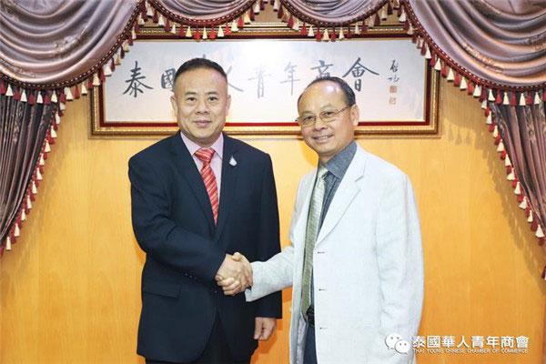 2019–12-31 喜迎新年、共倡友好,江门市政协马跃敏副主席率团访问泰华青商会