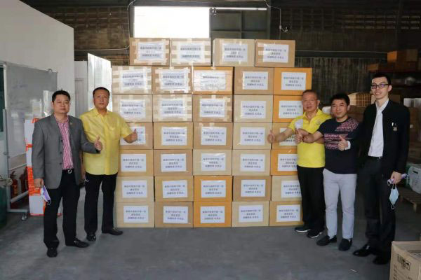 2020–01-31 众志成城战疫情——泰国统促会向中国捐赠第二批口罩物资